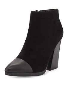 Toe ankle boot, black
