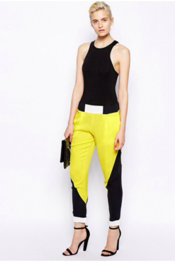 leggings black&yellow