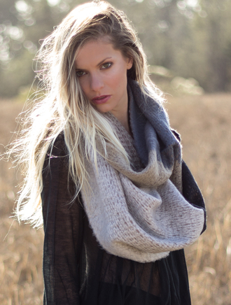 scarf coolie scarves wool knit infinity