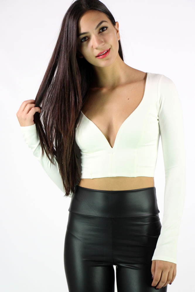 In Depth Crop Top - White @ LushFox.com :: Current Fashion Trends & Styles