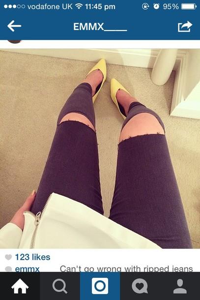 jeans ripped black women