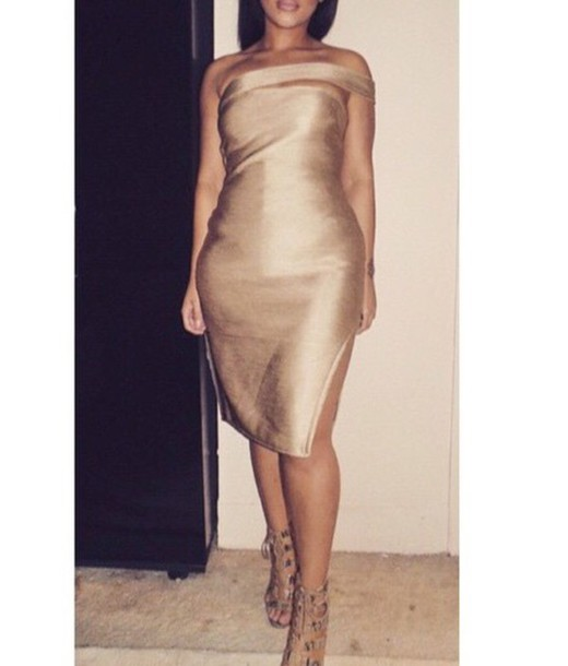 dress nude glitter new year's eve gold nude