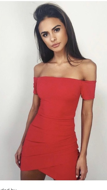 ae7a10dbe8ab dress red dress red lipstick off the shoulder off the shoulder dress  bodycon bodycon dress party