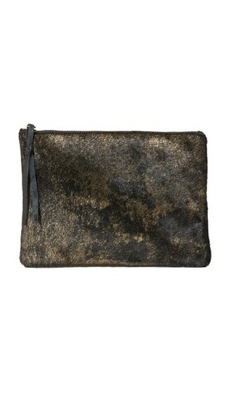 clutch gold black bag