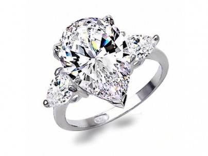 Keira cz pear shape engagement ring, 7.5 carat