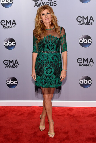 dress green dress prom dress gown connie britton