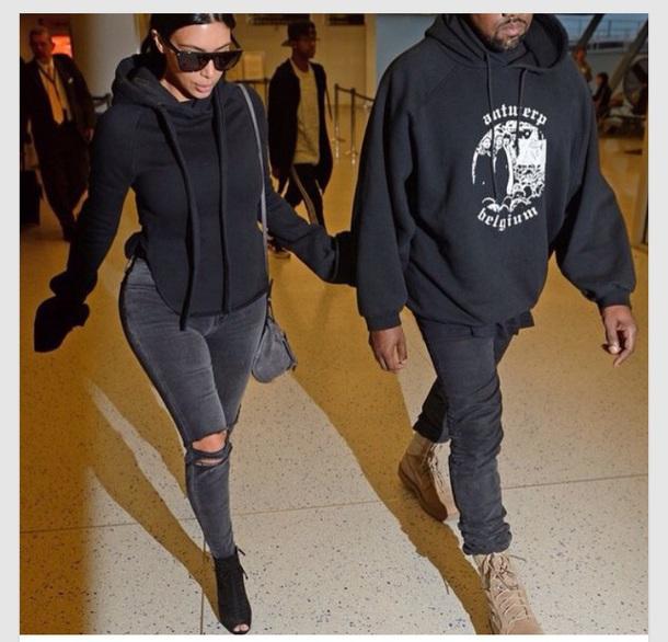 jeans black black jeans kim kardashian kim kardashian style ripped jeans kim kardashian