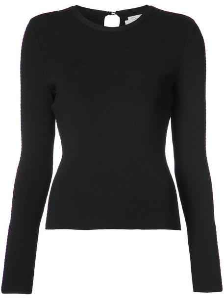 oscar de la renta top knitted top women black