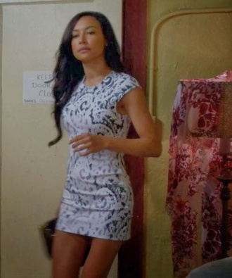 naya rivera santana lopez bodycon dress glee