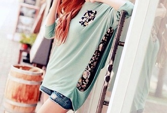 blouse cute blouse flowered print blouse floral print blouse cute cute outfits kawaii kawaii outfit ulzzang korean fashion korean style pastel blue pastel colors pastel adorable blouse blouse flower print cute shirt floral print top super cute adorable top blue blouse baby blue flower print blouse