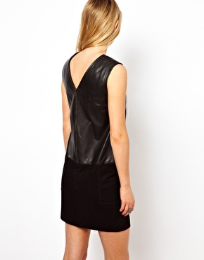 Mango | Mango Suede and Leather Dress at ASOS