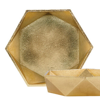home accessory gold plate dinnerware geometric