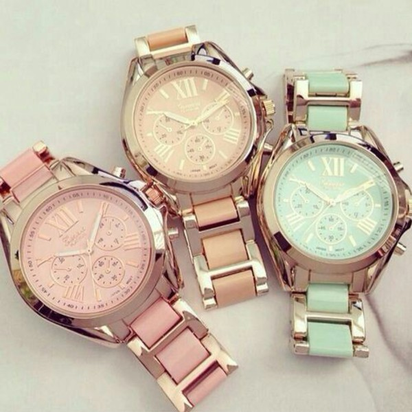 jewels watch weheartit pink