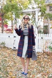 suburban faux-pas,blogger,jacket,skirt,sunglasses,bag,jewels,shoes,fall outfits,metallic skirt,striped top,handbag,pumps