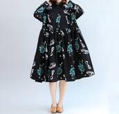 dress,black doll dress