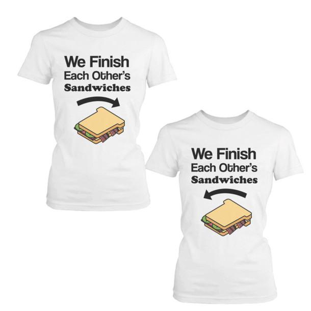 t shirt bff matching shirts best friends shirts gift. Black Bedroom Furniture Sets. Home Design Ideas