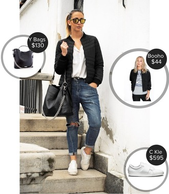 let's talk about fashion ! blogger jacket sunglasses shirt jeans shoes bag