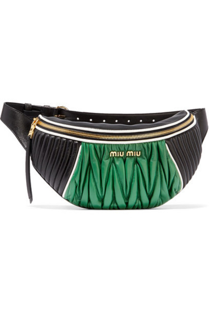 Miu Miu belt bag quilted bag leather black