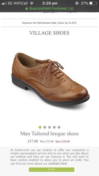 shoes brogue brown