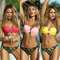 Women bikini set padded push up bra thong swimwear beach bathing swimsuit suits