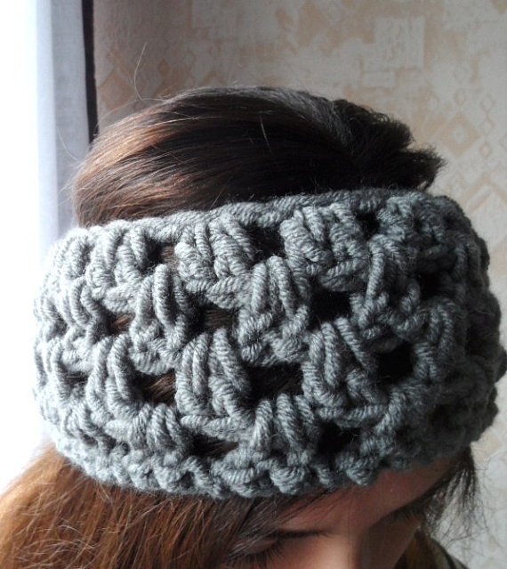 Headband 100wool ear warmer hair accessory winter hat by anabliss
