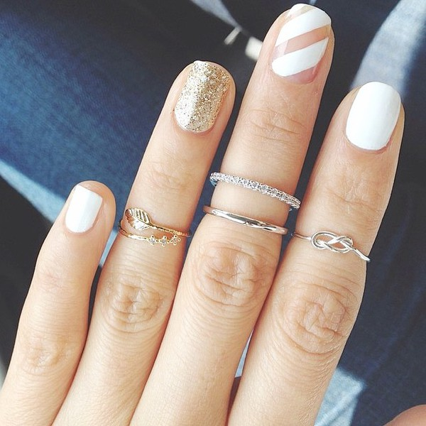 jewels gold midi rings