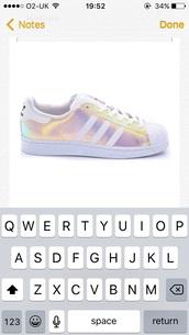 shoes,adidas,holographic,adidas superstars,adidas shell toe,adidas originals,adidas supercolor