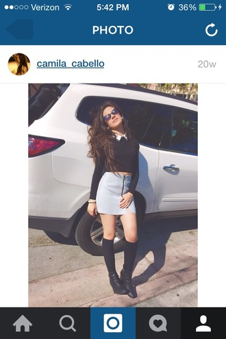 skirt camila cabello high waisted skirt
