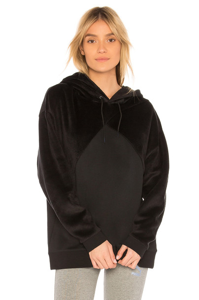 puma hoodie black sweater