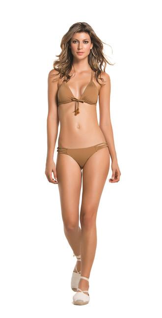 latin agua bendita brown triangle swimwear bikini halter bikini bikiniluxe