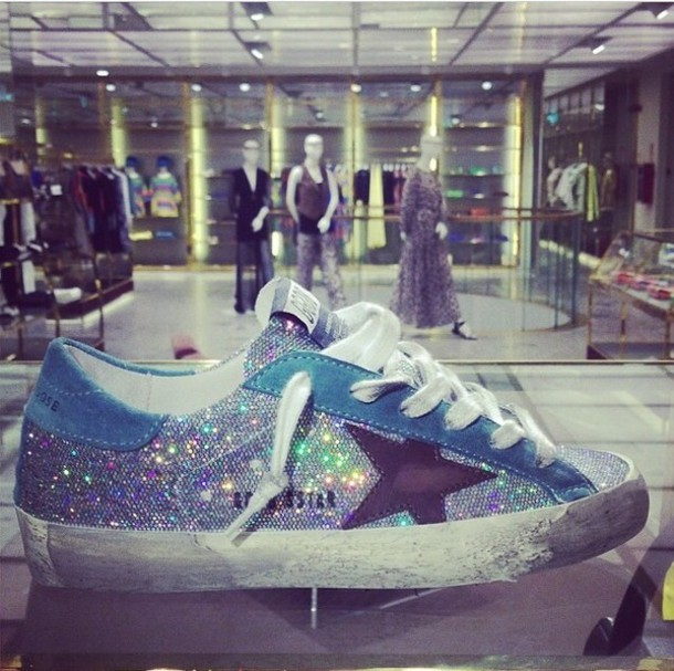 Shoes palm silver glitter ggdb golden goose deluxe for Pitture brillantinate