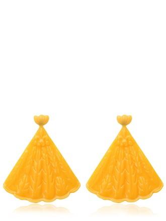 earrings yellow jewels