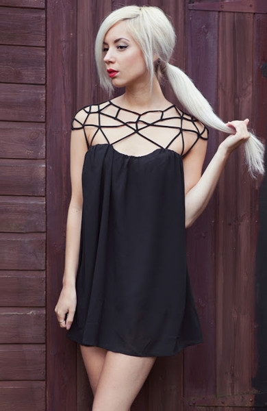 Fine Belt Mesh Dress | Choies