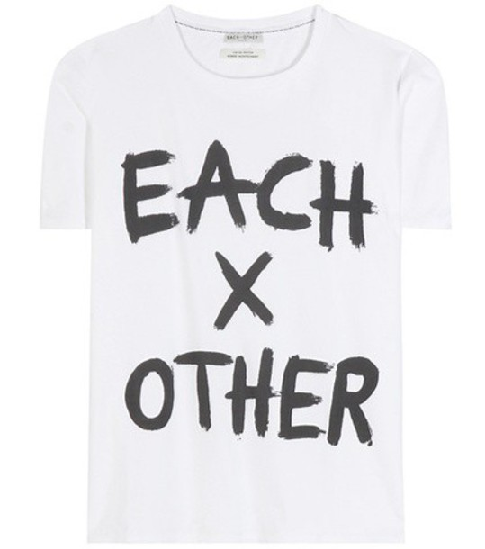 Each x Other Printed Cotton T-shirt in white