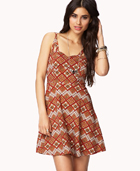 Tribal Print Fit & Flare Dress | FOREVER21 - 2052287813