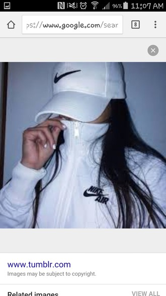 jacket hat black white nike swish