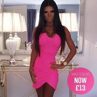 dress pink boutique pink neon mini dress
