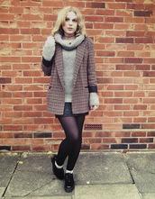 the velvet black,grunge,blogger,grey sweater,blazer,coat,sweater,jacket,top