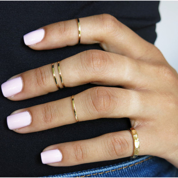 jewels ring gold mid rings ebonylacefashion nail polish