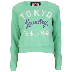 Tokyo Laundry Women's Long Sleeve Cropped Sweatshirt - Polyvore