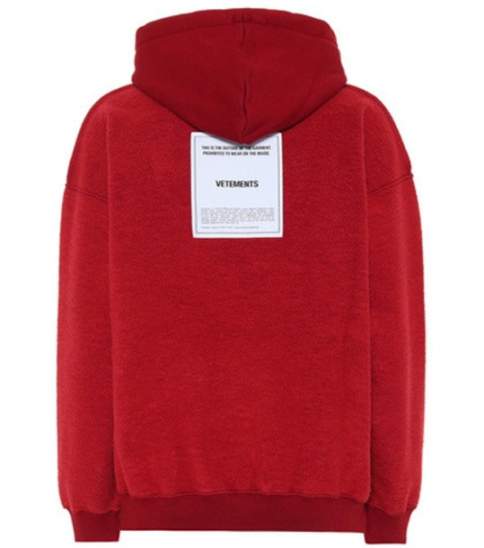 hoodie cotton red sweater