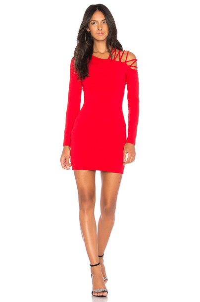 Susana Monaco dress bodycon rose red