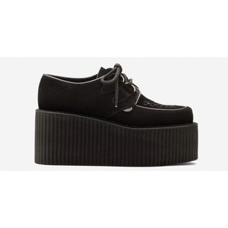 shoes creepers black triple sole