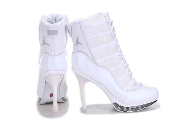 white shoes, nike, jordans, heels