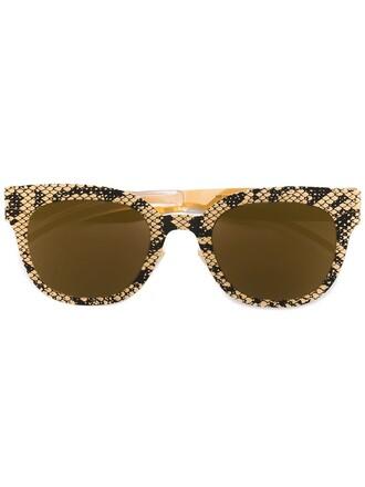 metal women python sunglasses grey
