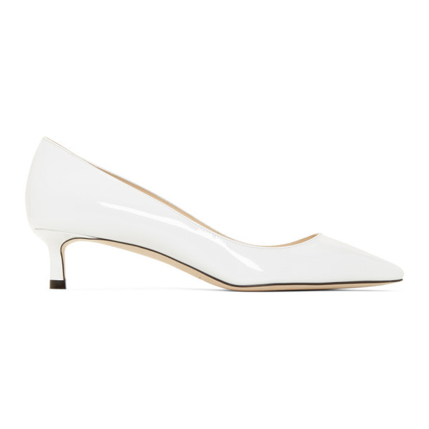 Jimmy Choo SSENSE Exclusive White Patent Romy 40 Heels