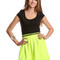 Blue suit skirt - scuba skater skirt neon green | ustrendy