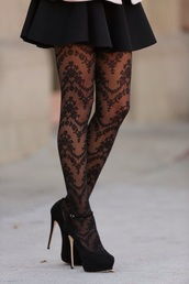 tights,black lace floral,leggings,floral,vintage,black,classy wishlist,lace,retro,angie
