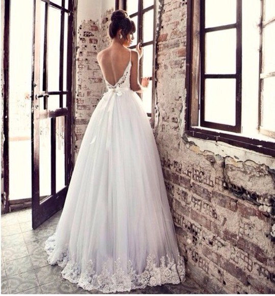 open back wedding clothes