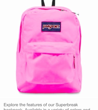 bag bright pink jansport